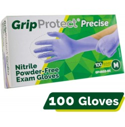 GripProtect® Precise Blue Nitrile Medical Exam Gloves