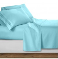 Aqua Deluxe Microfiber Bed Sheet Set, Clara Clark® Premier 1800 Collection