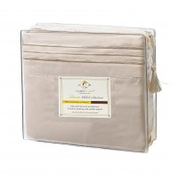 Cream Deluxe Microfiber Bed Sheet Set, Clara Clark® Premier 1800 Collection