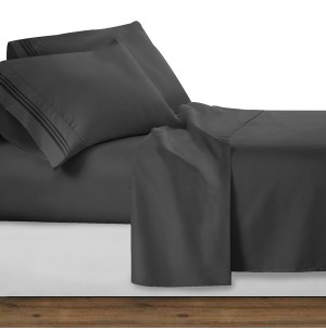 Gray Deluxe Microfiber Bed Sheet Set, Clara Clark® Premier 1800 Collection