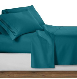 Teal Deluxe Microfiber Bed Sheet Set, Clara Clark® Premier 1800 Collection