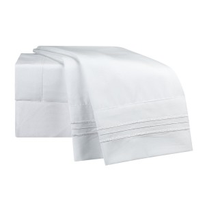 White Deluxe Microfiber Bed Sheet Set, Clara Clark® Premier 1800 Collection
