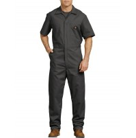 Dickies® Short Sleeve Coveralls, Black