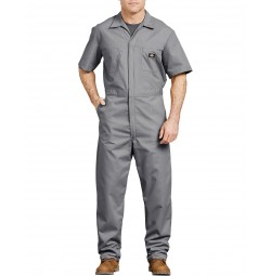 Dickies® Short Sleeve Coveralls, Gray