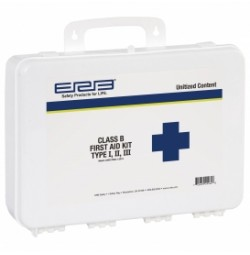 First Aid Kit, Class B Unitized Contents Plastic Box