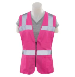 S721 Women's Fitted (Non ANSI) Pink Vest
