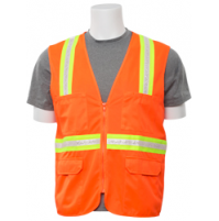 S103 Non ANSI Surveyor's Orange Safety Vest