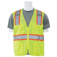 S149 Solid Contrasting Trim Mesh Safety Vest (Class 2)