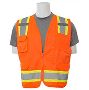 S380 Solid Front Mesh Back Surveyor Safety Vest (Class 2)