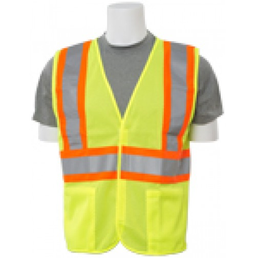 S382 Contrasting Trim Mesh Safety Vest (Class 2)