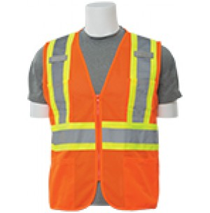 S383P Contrasting Trim Mesh Safety Vest (Class 2)