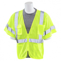 S663P Zippered Mesh Safety Vest (Class 3)