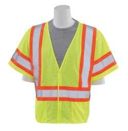 S682P Contrasting Trim Safety Vest (Class 3)