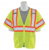 S683P Contrasting Trim Safety Vest (Class 3)