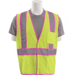 S730 Unisex with Pink Trim Vest (Class 2)