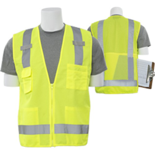 S205 Surveyor Safety Vest with Clipboard/Tablet Pocket (Class 2)
