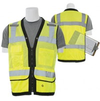 S251 Premium Surveyor Vest with Grommets and Clipboard/Tablet Pocket (Class 2)