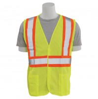 S382T Contrasting Trim Mesh Tall Safety Vest (Class 2)