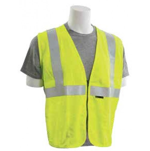 S150Z Flame Resistant Solid Safety Vest (Class 2), Zippered
