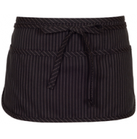 Black Pinstripe Waist Apron, 3 Pocket