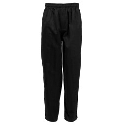 Fame® C17 Zipper Mens Black Chefs Pant