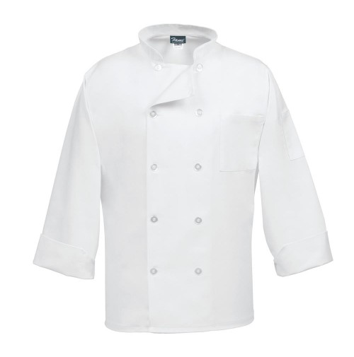 10 Button Classic White Chef Coat, Fame C10P