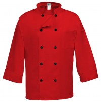 10 Button Classic Red Chef Coat, Fame C10P