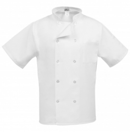 10 Button Classic White Chef Coat, SS. Fame C10PS