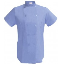 Womens Fitted Chef Coat S/S, Ceil Blue