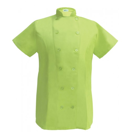 Womens Fitted Chef Coat S/S, Lime