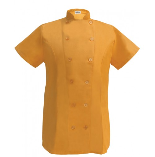 Womens Fitted Chef Coat S/S, Mango