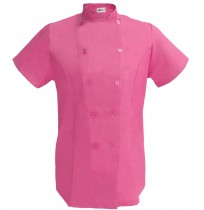 Womens Fitted Chef Coat S/S, Raspberry