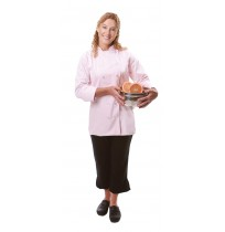 Womens Fitted Chef Coat L/S, Pink