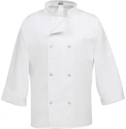 8 Button Classic White Chef Coat, Fame C8P