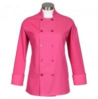 Fame C100P Women's Raspberry Chef Coat with Side Vents