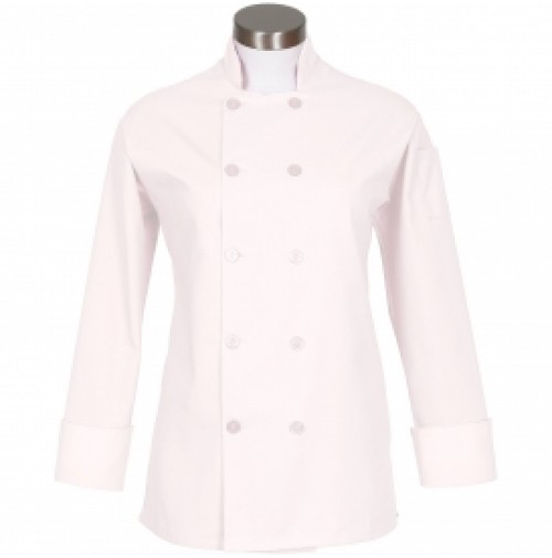 Fame C100P Women's White Chef Coat with Side Vents