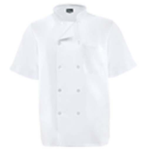 Fame® C11PS Short Sleeve Mesh Back Chef Coat