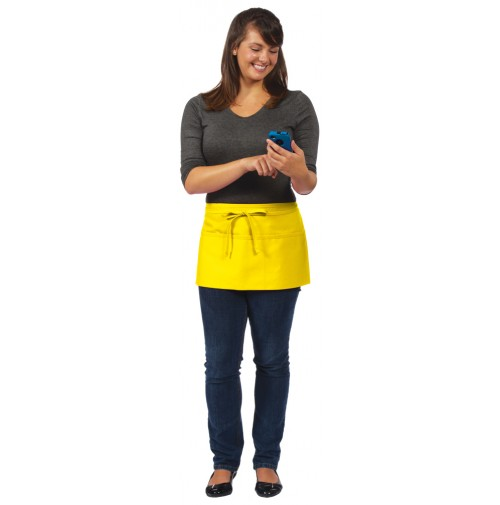 Short Waist Apron, 3 Pocket