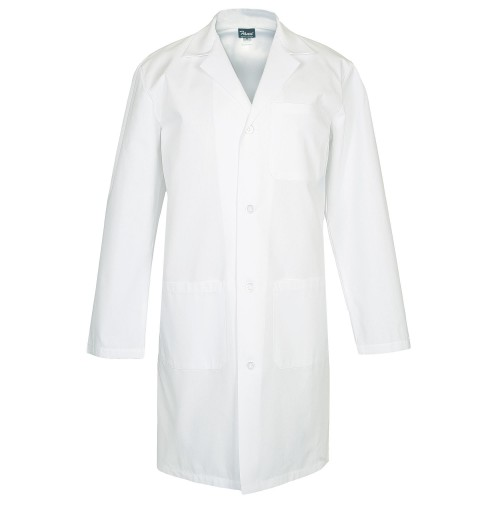 Fame L2 Male Lab Coat, White