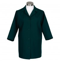 K72 3/4 Sleeve Female Smock, Hunter Green