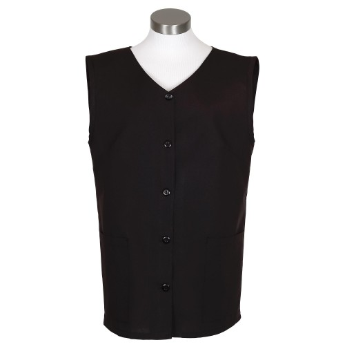 Sleeveless Tunic Smock, Black