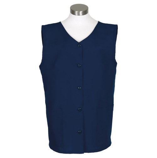 Sleeveless Tunic Smock, Navy