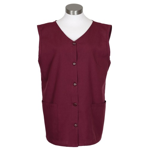 Sleeveless Tunic Smock, Burgundy