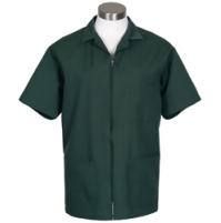 Zipper Front Smock, Hunter Green