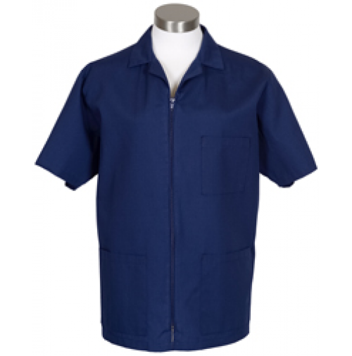 Zipper Front Smock, Navy