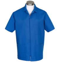 Zipper Front Smock, Royal Blue
