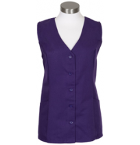 Female Tunic Uniform Vest, Purple