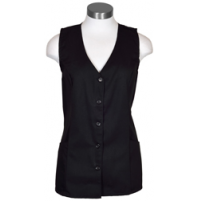 Female Tunic Uniform Vest, Black