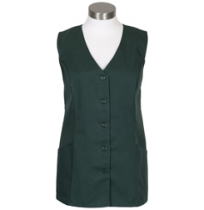 Female Tunic Uniform Vest, Hunter Green