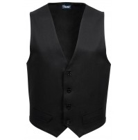 Male Fitted Uniform Vest, Black